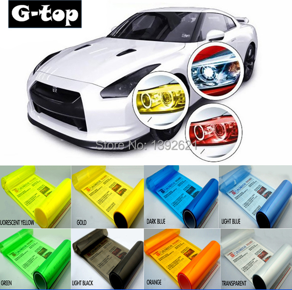 Protective Decoration Car Headlight Change Color Film Sticker(1 x 0.3M) Taillight Tint Vinyl Film Sticker Freeshipping(China (Mainland))