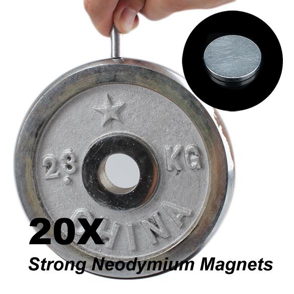 Гаджет  NEW 20 Pcs Rare-Earth Neodymium Magnets For DIY 8mm x 1mm None Строительство и Недвижимость