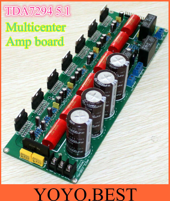 Assembled Stereo audio power amplifier TDA7294 5.1 channel 6CH pure post amplifier finished board(China (Mainland))