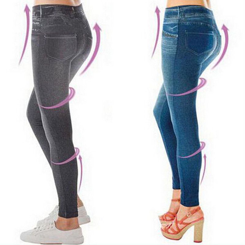 Hot Sale Winter Leggings Jeans With Real Pocket Legging Push Up Sport Leggins Pants Women Slim