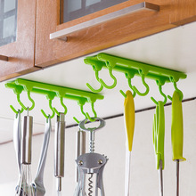 4 Color Kitchen Cabinet Wall Cabinet Hook Kitchen Storage Strong Sticky Hooks Up Wall Rails Free shipping U0543(China (Mainland))