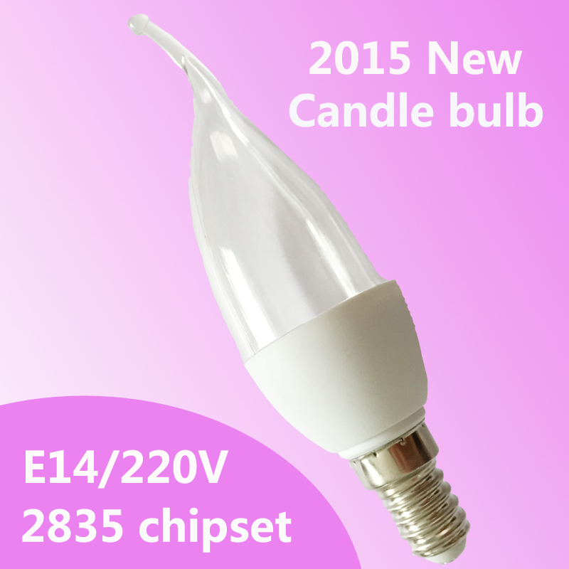 Wholesale Led Lamp E14 2835smd 5w Led Candle Light Bulb Led Bulb Warm White Cold White 220v Free