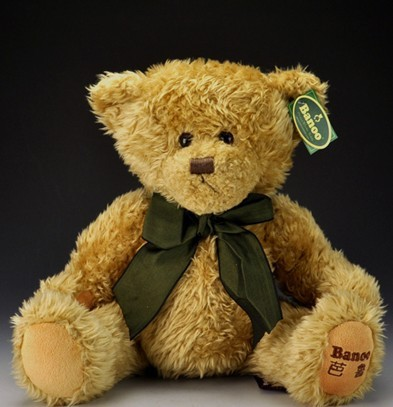 "Light brown teddy bear doll 25cm (9.84 "") stuffed teddy bear birthday gift for children LH107(China (Mainland))"