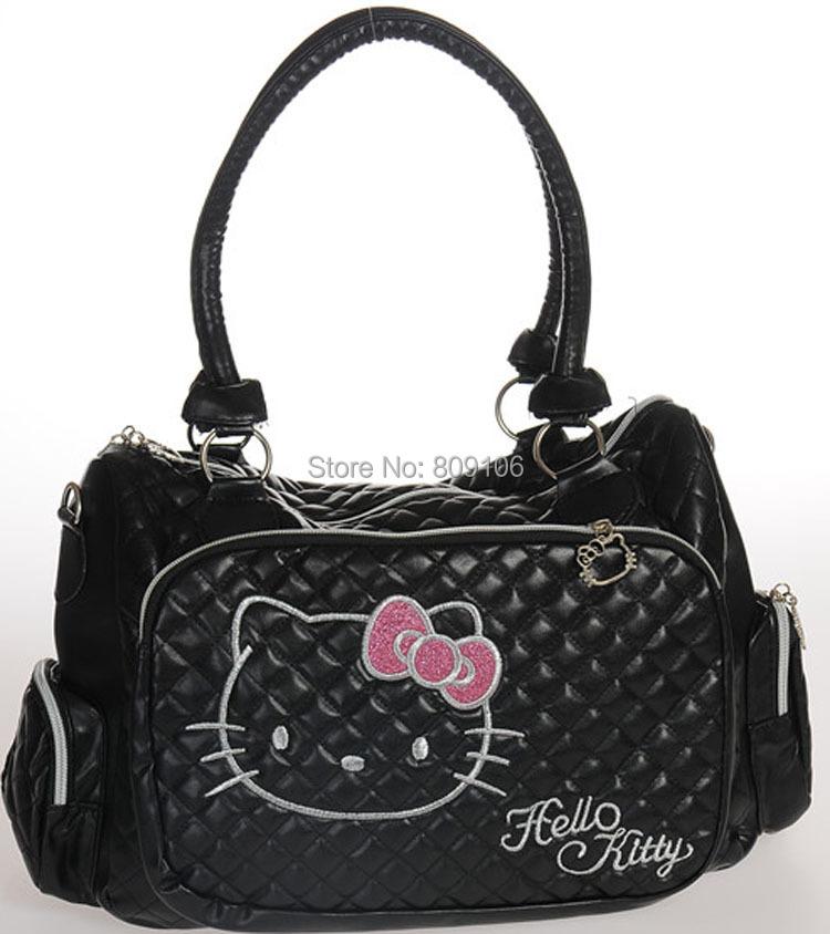 Wholesale/retail,free shipping,Hello kitty handbag travel messenger bag cross-body36*12*30CM(China (Mainland))