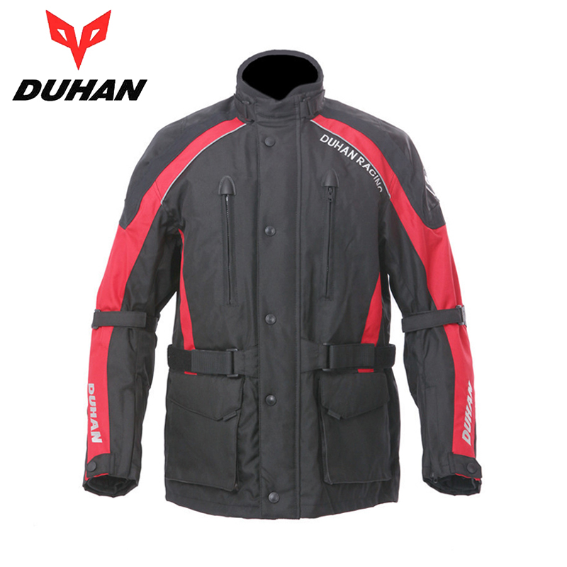 DUHAN Men's Motorcycle Racing Jaqueta Clothing Oxford Cloth Motocross Off-Road Riding Wear Jackets with Protecter Guards Liner(China (Mainland))