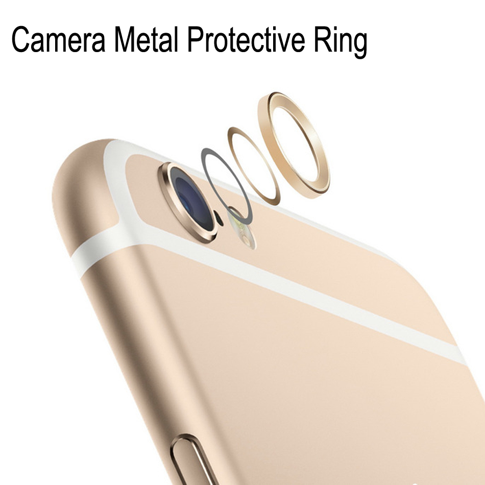 Lens Protective Case Ring Installed Camera Cover Metal Hoop Ring Guard Circle Aluminum For Apple iPhone 6/ 6 Plus Camera Lens(China (Mainland))