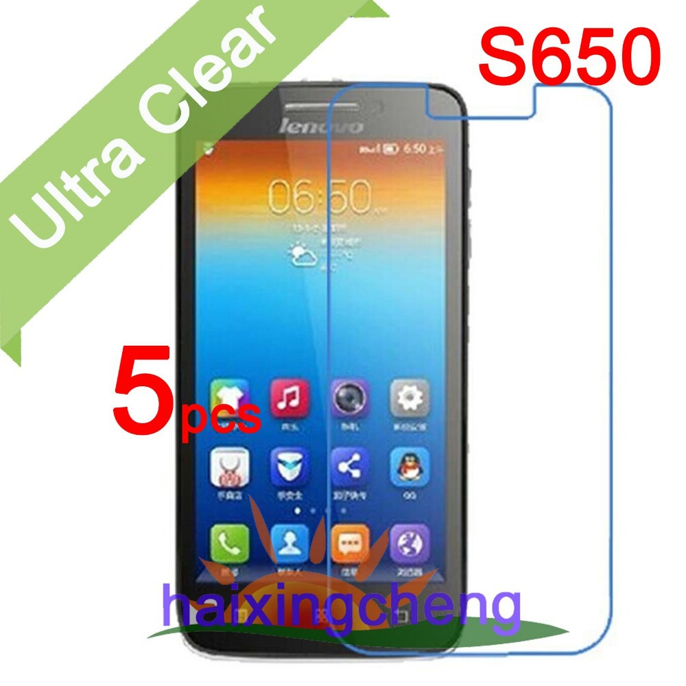 Ultra Clear LCD Screen Protector Guard Cover Protective Film For Lenovo S650 (5pcs film+5pcs cloth)(China (Mainland))
