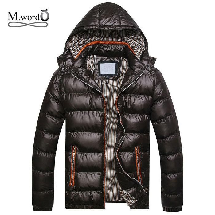 2015 New famous brand Warm Man's winter jacket warm parka Coat for men Light jacket coats plus size :M-3XL(China (Mainland))