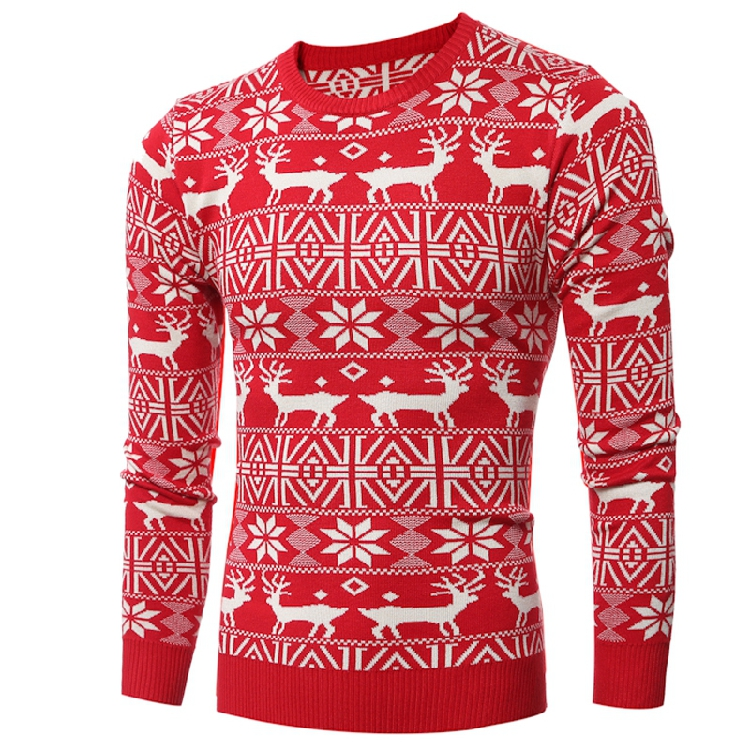 fashion 2016 men brand winter sweater deer men good quality long sleeve mens sweaters pullover men casual size 2xl(China (Mainland))