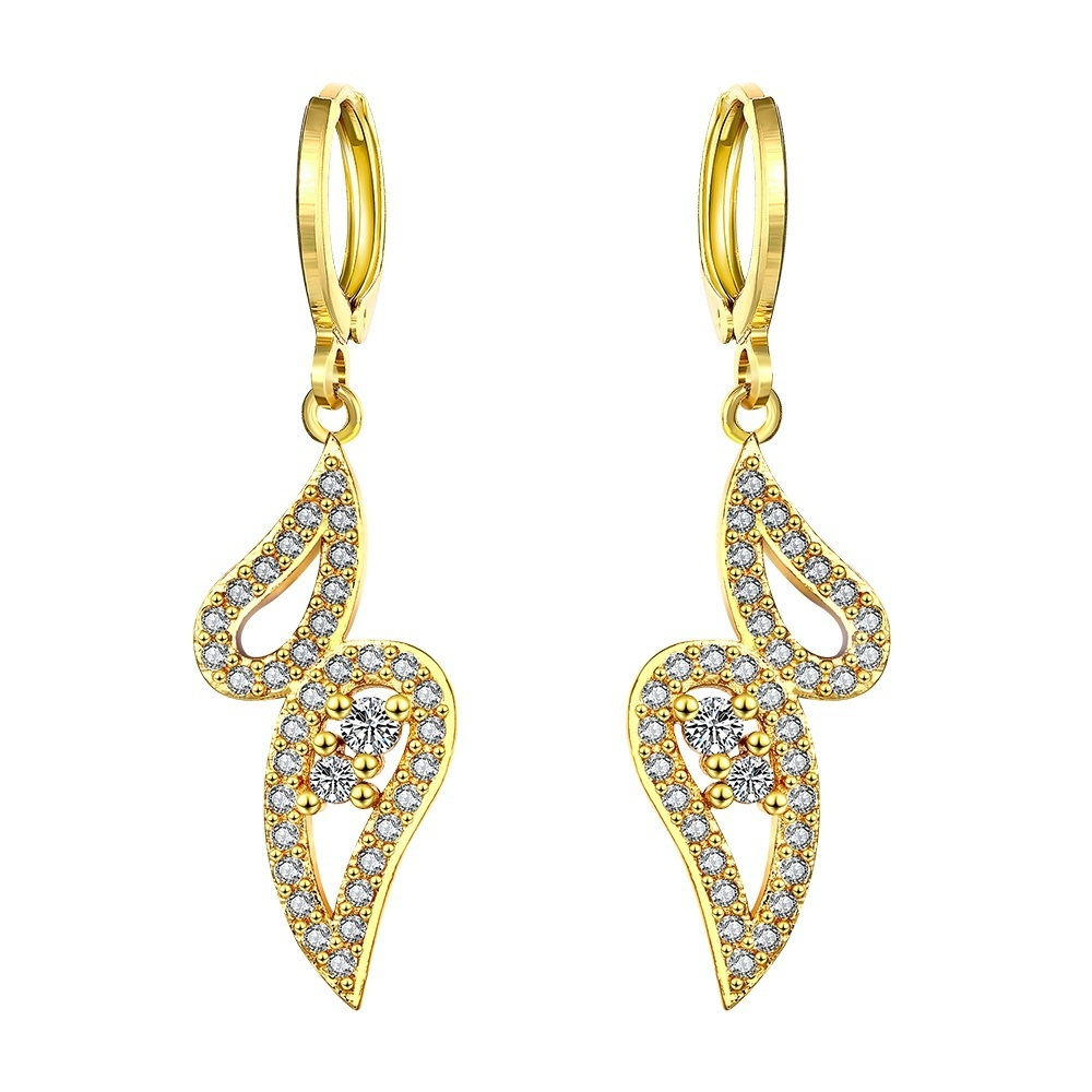 Luxury Aliexpress.com  Buy Gold Earrings For Women 2015 Beautiful Flower Design Basketball Wives ...