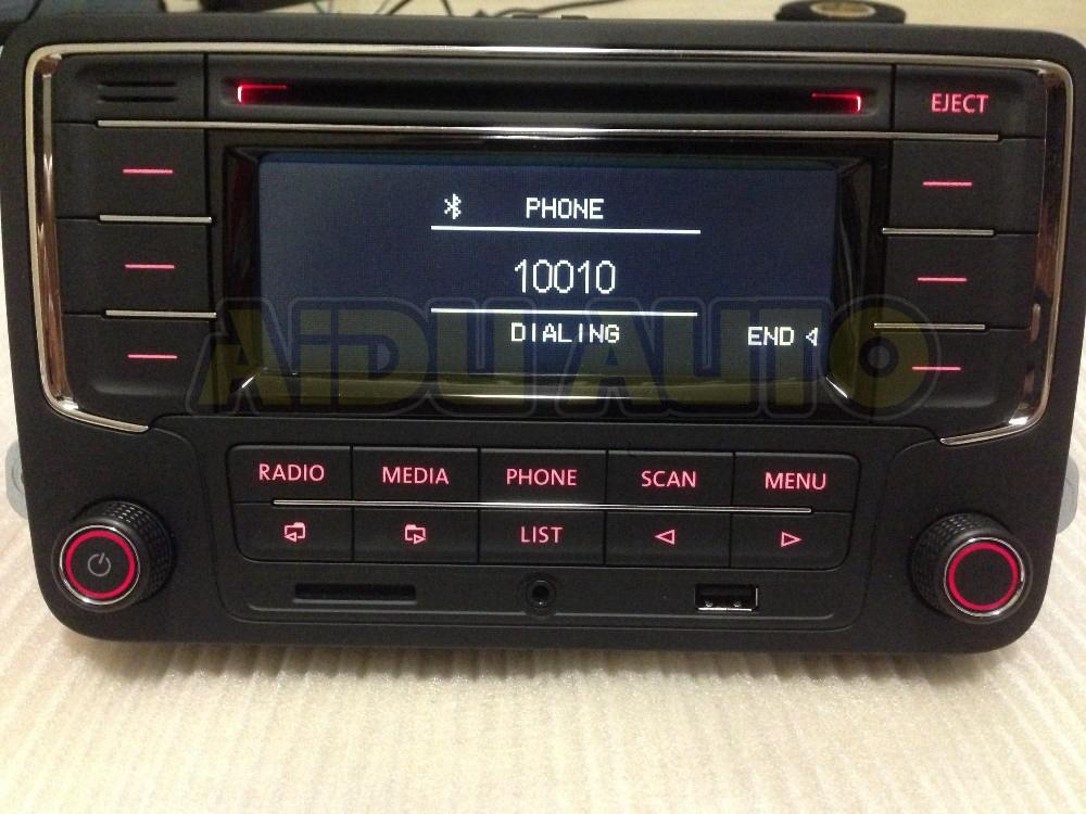 Фольксваген оригинальный OEM автомобильный радио RCN210 CD MP3 USB SD AUX bluetooth-плеер для гольф-1 5 6 Jetta Mk5 MK6 Passat B6