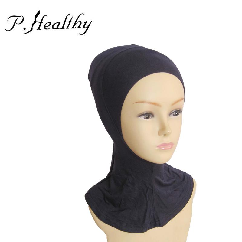 2016 Hot Sale Women Muslim Hijab Cap Full Cover Inner Islamic Head Wear Hat Ninja Underscarf 20 Colors Jersey Hijabs ch026 z35(China (Mainland))