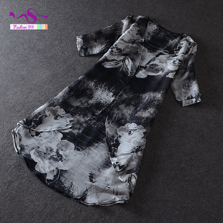 Женские блузки и Рубашки Black chiffon blouse camisa blusas femininas 2015 LY124 блузки и рубашки