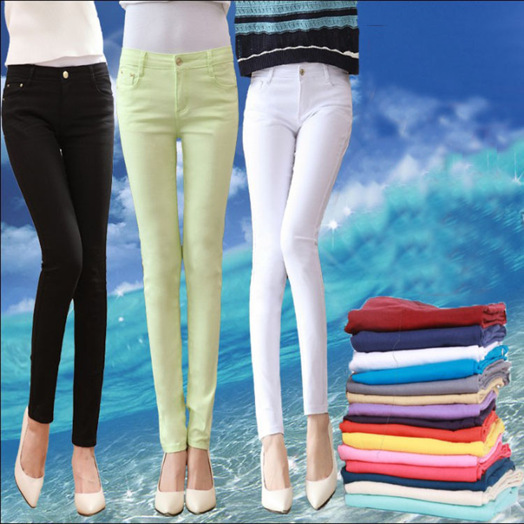 Fitness Real of 2015 New Candy Color Self-cultivation Leggings Ladies Big Yard Stretch Pencil Pants Composite Bag Open Breasted(China (Mainland))