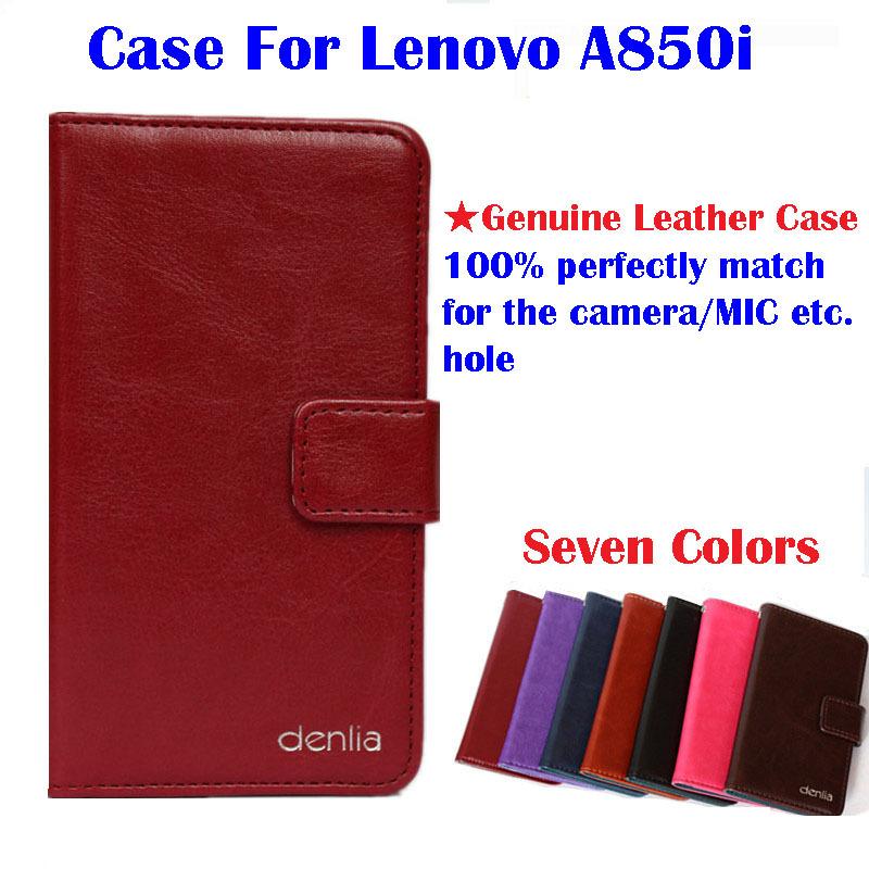 Телефон чехол для Lenovo A850i натуральная кожа, a850i чехол откидной чехол чехол реального кожу карта держатель бумажник 7 цветов