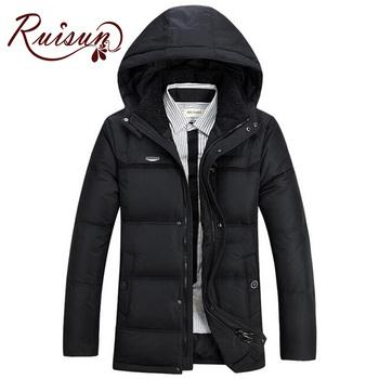 2015 мода парка мужчины зимняя куртка мужская мужской утолщение 90% утка пуховик пальто вниз - пальто Большой размер