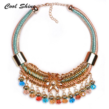 Buy 2016 New Fashion Colorful Choker Beads Vintage Necklace Crystal Flower Collar Statement Necklaces & Pendants Women Pearl Jewelry for $7.50 in AliExpress store