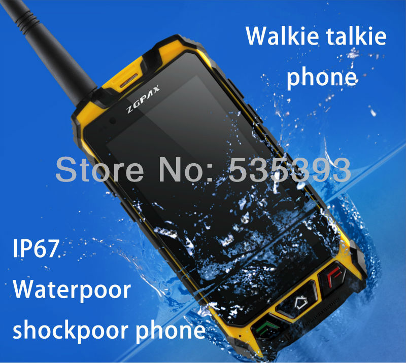 original shockproof Waterproof phone S9 Android smart cell phones 4.5 inch PTT Radio MTK6572 GPS 3G 1.2GHZ Walkie talkie Russian(China (Mainland))