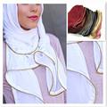 33  colors high quality thicker plain bubble chiffon solid color shawl headband  hijab  muslim  hijab islamic scarf/scarves
