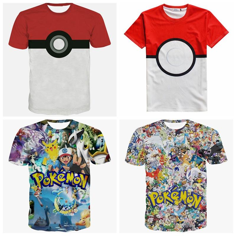 Teenage Boys Top 2016 New Pokemon Games T Shirt Short
