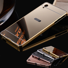 Buy Luxury Metal Aluminum Frame + Mirror Acrylic Back Case Sony Xperia XA Cases Sony XA Ultra Case X Perfomance Phone Cases for $2.35 in AliExpress store