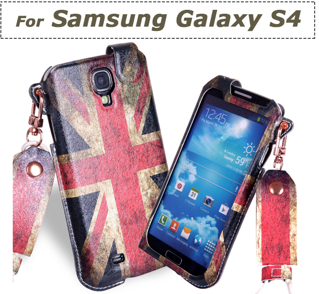 Mobile Phone Bag with Neck Strap case cover holder sock pouch skin sleeve For Samsung Galaxy S4 Pull Tab Pouch(China (Mainland))