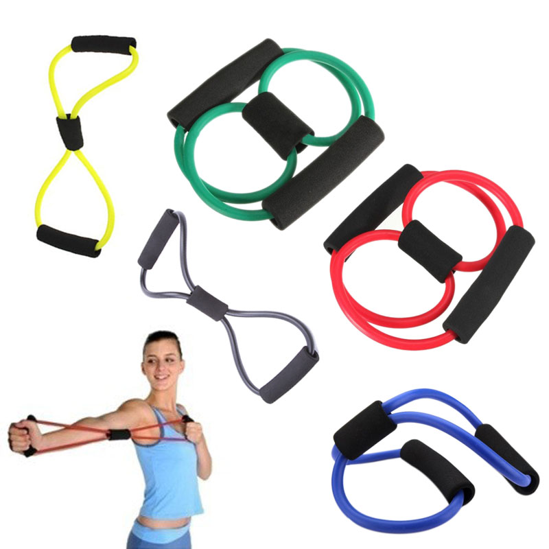 Control Weight Expansion Rubber Tubing Pull on Rope Fitness Elastic Band Yoga Tubo 8 tipo SS(China (Mainland))