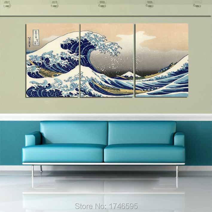 Buy Modern Home Decor Wall Art Picture Great Wave Off Kanagawa Katsushika