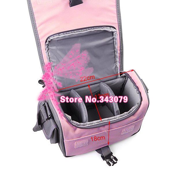 Camera Bag Case For Canon Rebel T5i T4i T3i T2i E@S 700D 650D 600D 550D DSLR pink(China (Mainland))