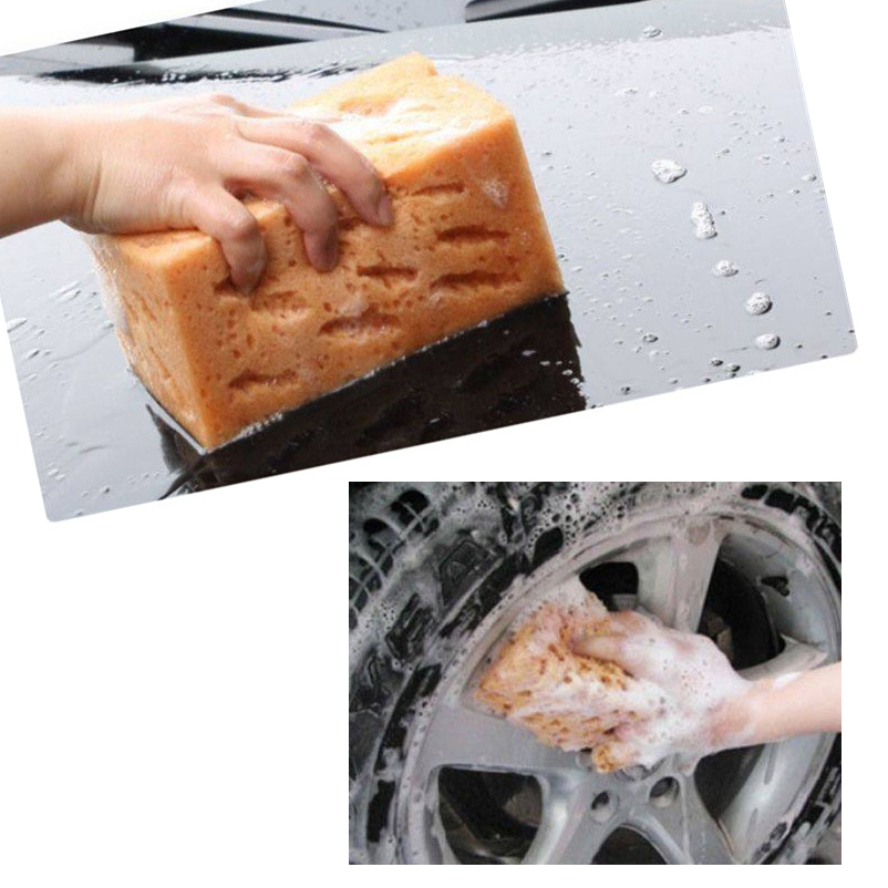 Anto Care 17*11*9cm thick coral car wash Clean sponge Porous polyester coral sponge Block do not scratch the surface of the car(China (Mainland))