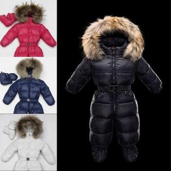 Детские Snowsuit новорожденный зимняя одежда 0 - 24 месяцев пуховик снег верхняя одежда для новорожденных мальчиков Snowsuit
