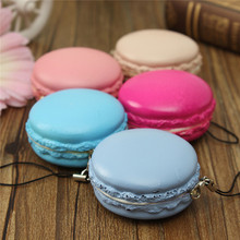 2016 High Quality Hot Kawaii Soft Dessert Squishy Cute Bread Cell Phone Key Straps Candy Colors Macarons Squishy Bread Straps(China (Mainland))