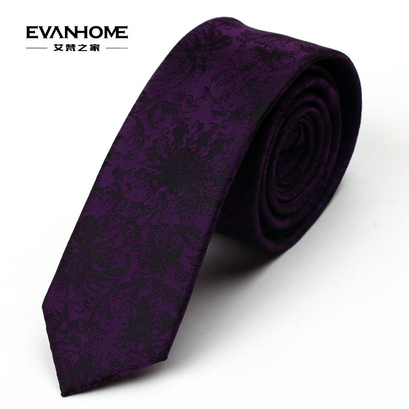 new Korean male narrow ties 5cm leisure married groom deep dark purple tie pattern L5070(China (Mainland))