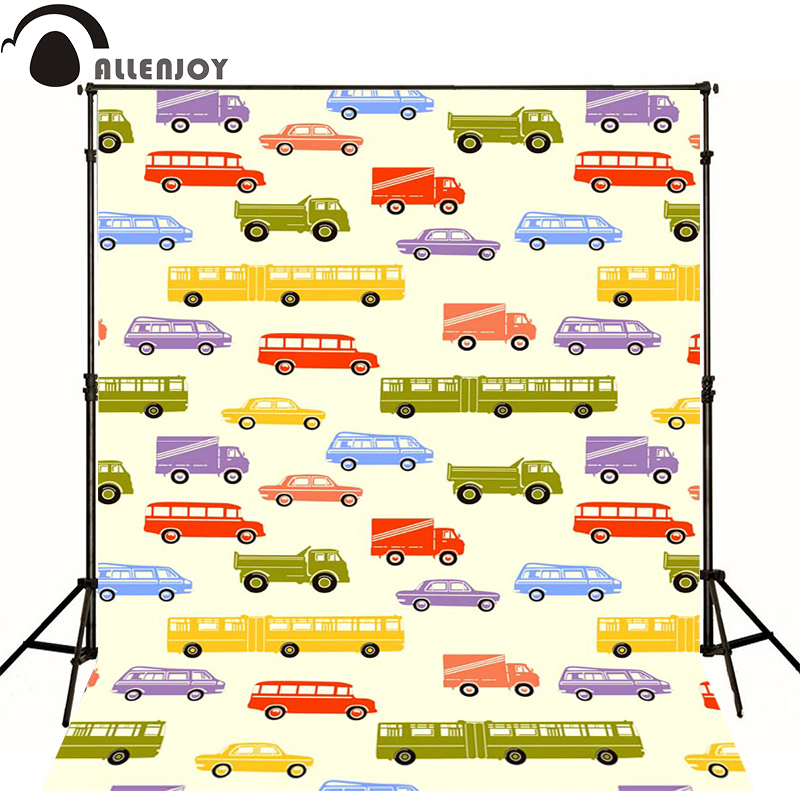 Allenjoy Photographic background Bus school bus van truck newborn photography photo for studio camera fotografica wood(China (Mainland))