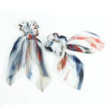 韓国スタイルボヘミアンシュシュプリントシフォンリボン女(China)