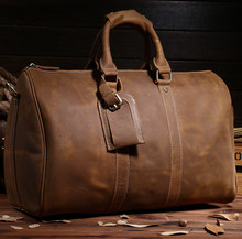 9551.43CM.Mens travel bags,luggage,tote,handbas,genuine leather,cowhide,brown color,vintage,free shipping,new,duffle gym bags,(China (Mainland))