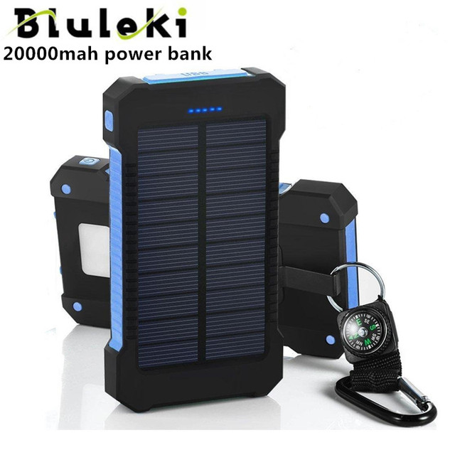 20000mAh Solar Power Dual USB External Battery