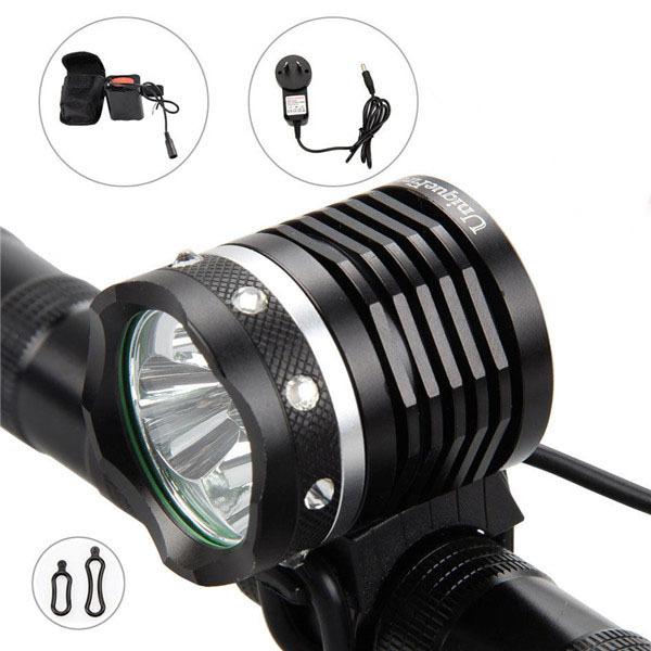 Black NEW 6000 Lumens 3x CREE XML XM-L2 LED Bicycle Bike Cycling Head HeadLamp Lamp HeadLight 6400mAh Battery light(China (Mainland))