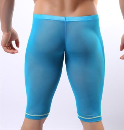 buy mens underwear pouch boxers short transparent homme male gauze sleepwear. Black Bedroom Furniture Sets. Home Design Ideas