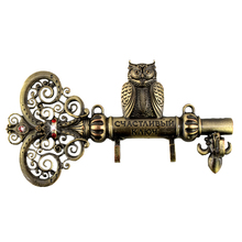 "Screw fixation,Wall Door Hook Hanger.living room & Kitchen vintage hook.""The key to happiness"" housekeeper.home decor of owl(China (Mainland))"