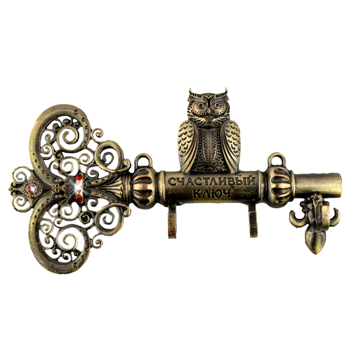 """Screw fixation,Wall Door Hook Hanger.living room & Kitchen vintage hook.""""The key to happiness"""" housekeeper.home decor of owl(China (Mainland))"""