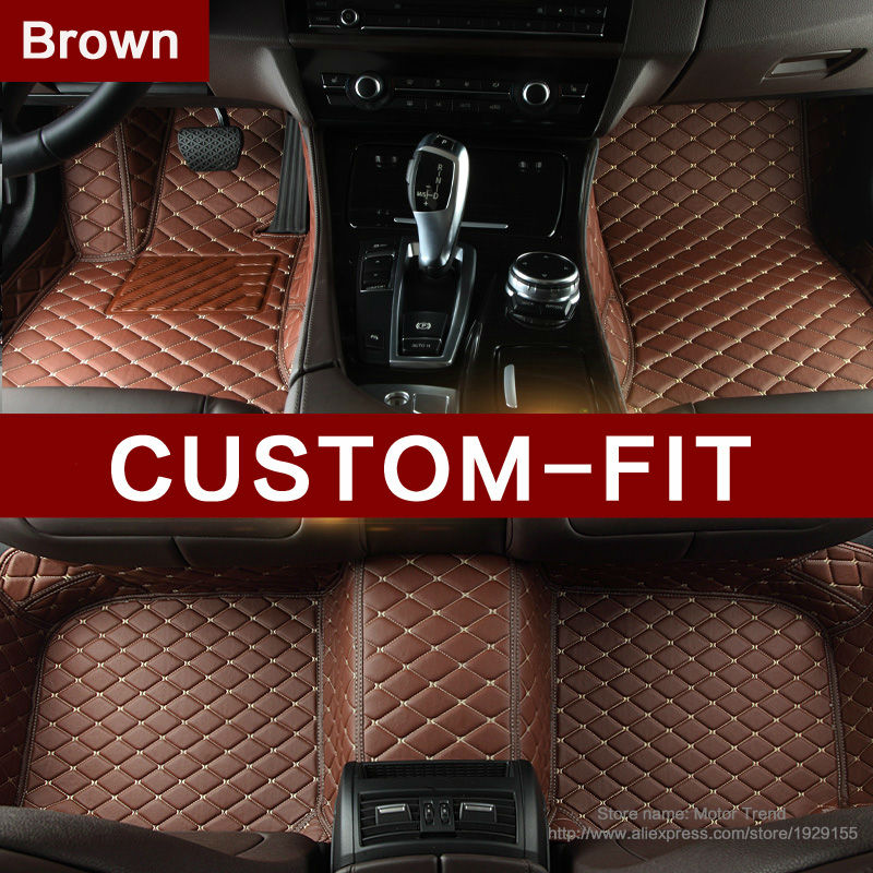Custom fit car floor mats for Ford Edge U387 Fusion Mondeo Focus MK2/3 all weather heavy duty car-styling carpet liners (2006-)(China (Mainland))