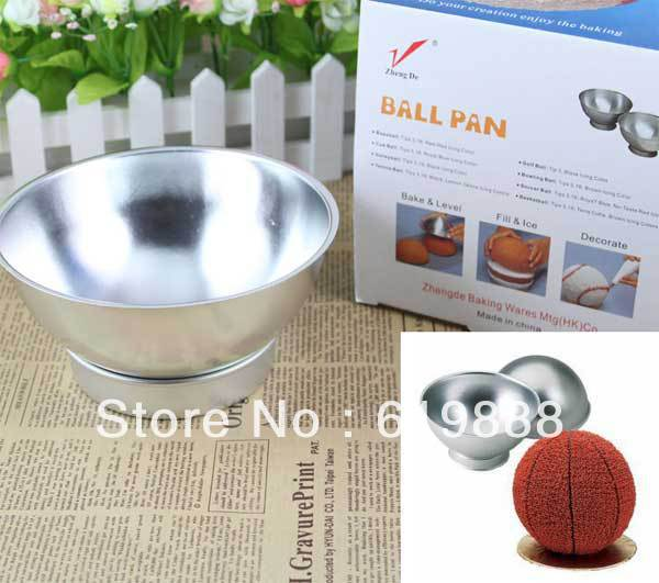 Basketball Football Bread Molds Boudin Cake Stencil DIY Chocolate Bowl Cup Aluminum Baking Pastry Tools(China (Mainland))