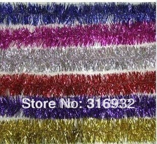 M6 Free Shipping  2M NEW CHRISTMAS GARLAND Tinsel for Party, Date, Wedding 10pcs/lot