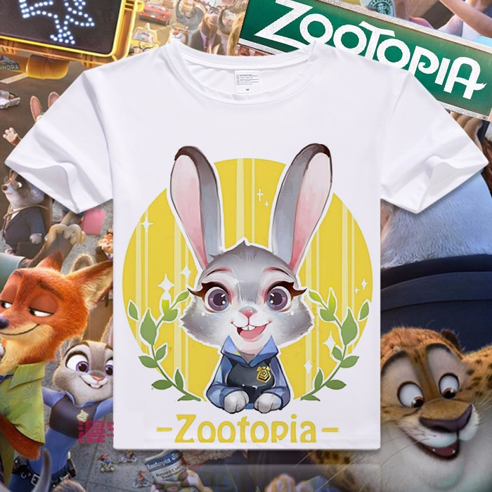 New zootopia Cartoon Summer Men T-shirt Nick Fox Judy Rabbit 3D printing civil war design  Tshirt lover gift