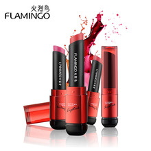 Free Shipping Flamingo Brand Food Grade Healthy Moisturizer Smooth Waterproof 6 Fashion Color Long Lasting Matte Lipstick 41004s(China (Mainland))
