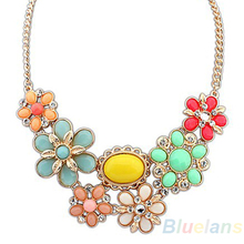 2014 New Fashion Women Alloy Bohemian Necklaces jewelry Hot Bib Choker necklaces pendants 023S