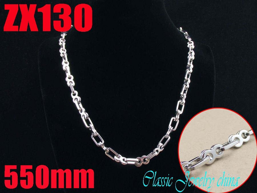 Wholesale - 550mm 21.5 Inch 316L stainless steel  6mm  splayed chain women male fashion necklace chains ZX130<br><br>Aliexpress