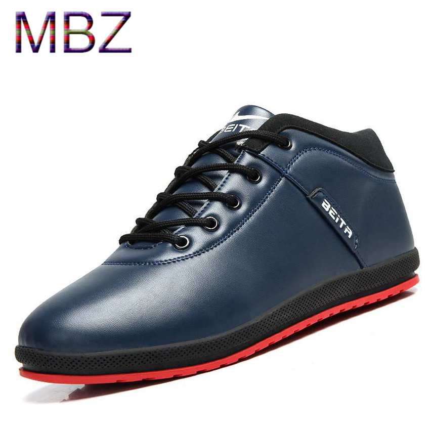 Ankle Boots man PU Leather boots male footwear warn casual plush Shoes For Men Flats winter outdoor Bota Sapato Masculino 692(China (Mainland))