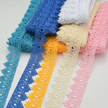 15yards Venise Lace trim wedding DIY crafted sewing polyester lace wholesale 4.5cm(China (Mainland))